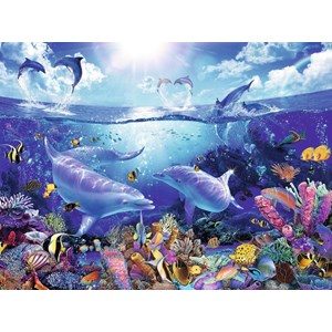 "Ravensburger (16331) - Christian Riese Lassen: ""Day of the Dolphins"" - 1500 pièces"