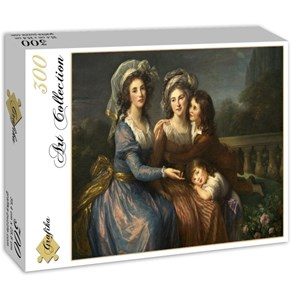"""Grafika (02171) - Élisabeth Vigée Le Brun: """"La Marquise de Pezay et la Marquise de Rougé avec ses fils Alexis e"""" - 300 pièces"""