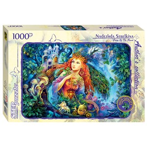 """Step Puzzle (79537) - Nadezhda Strelkina: """"Fairy of the Forest"""" - 1000 pièces"""