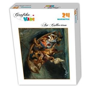 """Grafika (00292) - Eugene Delacroix: """"Christ sur la Mer de Galilée, 1841"""" - 24 pièces"""