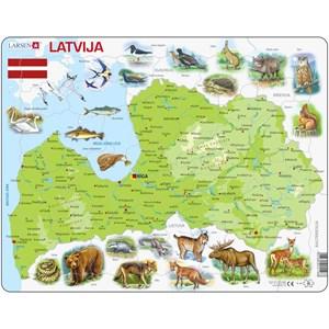 """Larsen (K46-LE) - """"Carte de la Lettonie - LE"""" - 48 pièces"""