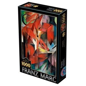 """D-Toys (72856-MA01) - Franz Marc: """"Renards"""" - 1000 pièces"""