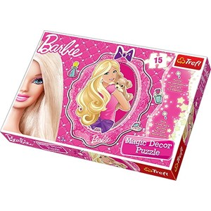 "Trefl (14604) - ""Barbie Puzzle Magic Decor"" - 15 pièces"