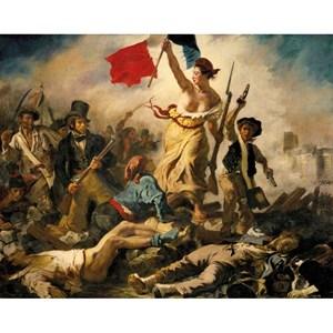 """Puzzle Michele Wilson (A460-350) - Eugene Delacroix: """"La Liberté Guidant le Peuple"""" - 350 pièces"""