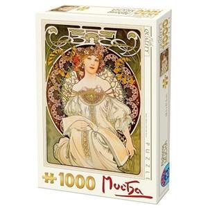 """D-Toys (66930-MU01) - Alphonse Mucha: """"Rêverie"""" - 1000 pièces"""