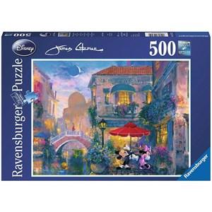 """Ravensburger (14725) - James Coleman: """"Mickey à Venise"""" - 500 pièces"""