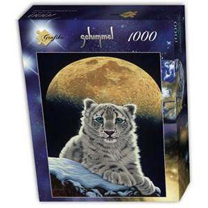 """Grafika (T-00412) - Schim Schimmel, William Schimmel: """"Moon Leopard"""" - 1000 pièces"""