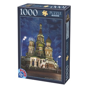 """D-Toys (64301-NL10) - """"Russie, Moscou, Cathédrale Saint-Basile-le-Bienheureux"""" - 1000 pièces"""