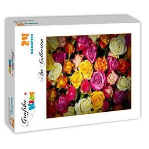 "Grafika Kids (00942) - ""Roses"" - 24 pièces"
