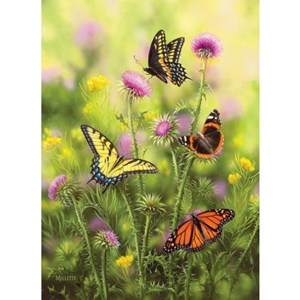 "SunsOut (30921) - Rosemary Millette: ""Butterflies and Thistle"" - 500 pièces"