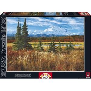 """Educa (16008) - Rodney Lough Jr.: """"Denali National Park"""" - 1500 pièces"""
