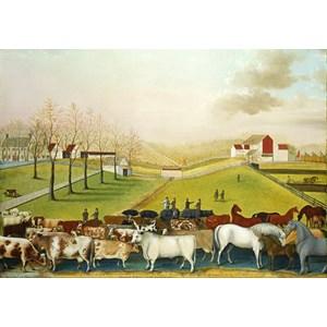 "Grafika (00251) - Edward Hicks: ""The Cornell Farm, 1848"" - 1000 pièces"