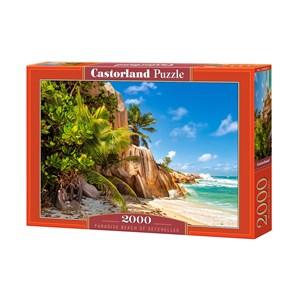 """Castorland (C-200665) - """"Plage Paradisiaque des Seychelles"""" - 2000 pièces"""