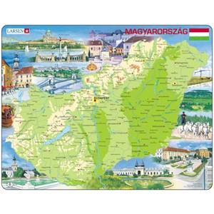 """Larsen (K60) - """"Carte de la Hongrie"""" - 80 pièces"""