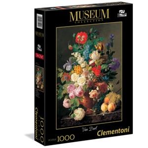 """Clementoni (31415) - Jan Frans Van Dael: """"Vase de fleurs"""" - 1000 pièces"""