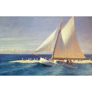 "Puzzle Michele Wilson (A278-350) - Edward Hopper: ""The Sailboat"" - 350 pièces"