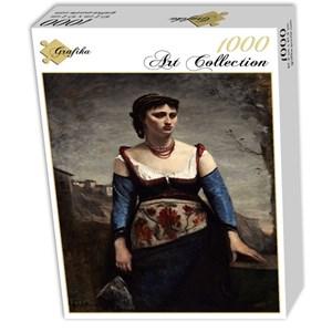 "Grafika (01980) - Jean-Baptiste-Camille Corot: ""Agostina, 1866"" - 1000 pièces"