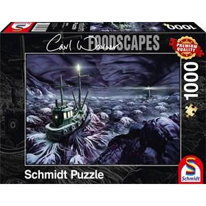 "Schmidt Spiele (59374) - Carl Warner: ""Stormy Sea"" - 1000 pièces"