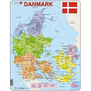 "Larsen (A6-DK) - ""Carte du Danemak - DK"" - 70 pièces"
