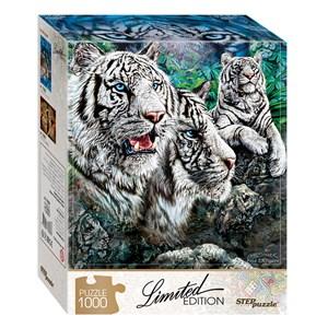 """Step Puzzle (79808) - """"Trouvez 13 Tigres!"""" - 1000 pièces"""