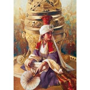 "Educa (14724) - Kamil Aslanger: ""Sultan Mahi Nigar and Incensory"" - 1000 pièces"