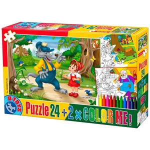 """D-Toys (50380-PC-06) - """"The Little Red Cap + 2 drawings to color"""" - 24 pièces"""