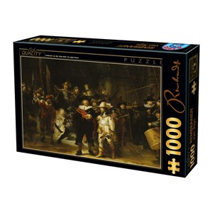"D-Toys (73792-1) - Rembrandt: ""Night Watch"" - 1000 pièces"