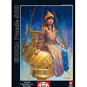 "Educa (14723) - Kamil Aslanger: ""Oil Lamp"" - 500 pièces"