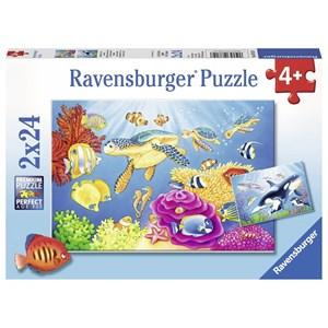 """Ravensburger (07815) - """"Monde Sous-marin Coloré"""" - 24 pièces"""
