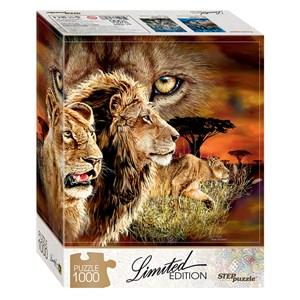 """Step Puzzle (79807) - """"Trouvez 10 Lions!"""" - 1000 pièces"""
