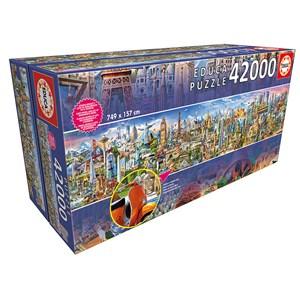 """Educa (17570) - """"Le Tour du Monde"""" - 42000 pièces"""