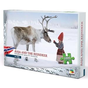 "Vennerod forlag (001) - Per Breiehagen: ""Anja and the Reindeer"" - 1000 pièces"