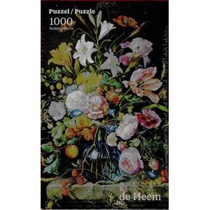 """PuzzelMan (760) - Jan Davidszoon de Heem: """"Vase de Fleurs"""" - 1000 pièces"""