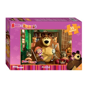 """Step Puzzle (91211) - """"Masha and The Bear"""" - 35 pièces"""
