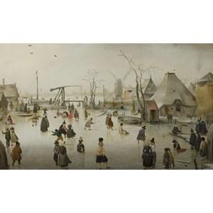 """PuzzelMan (733) - Hendrick Avercamp: """"On the Ice"""" - 1000 pièces"""