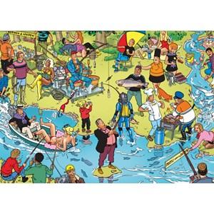 """PuzzelMan (119) - Willems Wereld: """"La Pêche"""" - 1000 pièces"""