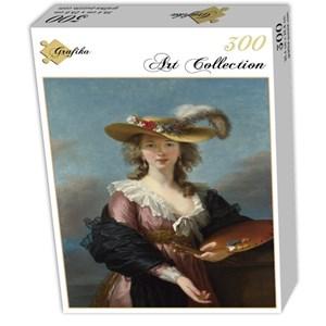 """Grafika (02173) - Élisabeth Vigée Le Brun: """"Autoportrait au Chapeau de Paille, 1782"""" - 300 pièces"""