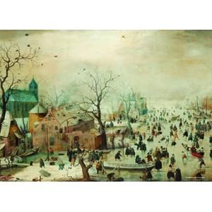 "PuzzelMan (383) - Hendrick Avercamp: ""Paysage d'hiver"" - 1000 pièces"