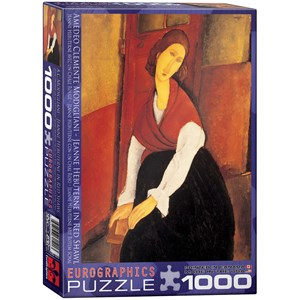"""Eurographics (6000-1501) - Amedeo Modigliani: """"Jeanne Hebuterne in Red Shawl"""" - 1000 pièces"""