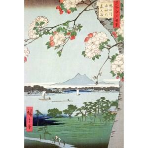 "Puzzle Michele Wilson (A974-350) - Utagawa (Ando) Hiroshige: ""Pommiers en fleurs"" - 350 pièces"
