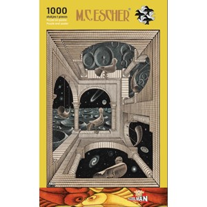 """PuzzelMan (863) - M. C. Escher: """"Different World"""" - 1000 pièces"""