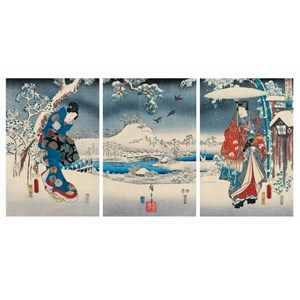 "Puzzle Michele Wilson (A541-2500) - Utagawa (Ando) Hiroshige: ""Genji"" - 2500 pièces"