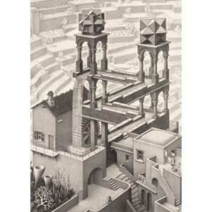 "PuzzelMan (819) - M. C. Escher: ""Waterfall"" - 1000 pièces"