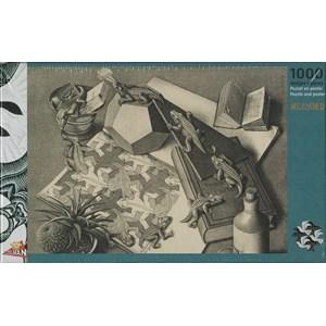 """PuzzelMan (821) - M. C. Escher: """"Reptiles"""" - 1000 pièces"""