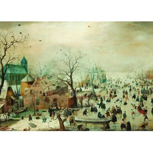 "PuzzelMan (471) - Hendrick Avercamp: ""Winter"" - 210 pièces"
