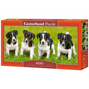 """Castorland (B-060337) - Jack Russell: """"Terrier Puppies"""" - 600 pièces"""