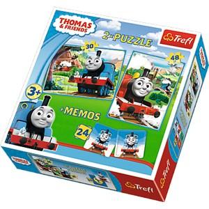 "Trefl (90602) - ""Thomas & Friends + Memo"" - 30 48 pièces"
