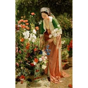 """Puzzle Michele Wilson (A204-80) - John Frederick Lewis: """"Dans le jardin"""" - 80 pièces"""