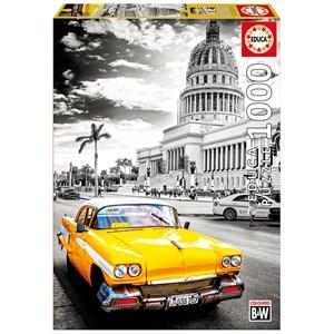 """Educa (17690) - """"Taxi à la Havane, Cuba"""" - 1000 pièces"""