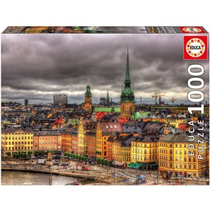 "Educa (17664) - ""Attractions de Stockholm, Suède"" - 1000 pièces"